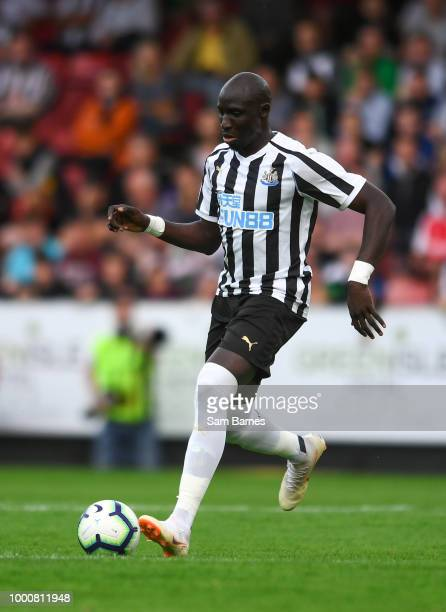 Dublin Ireland 17 July 2018 Mohamed Diame of Newcastle United during the friendly match between St Patricks Athletic and Newcastle United at Richmond...