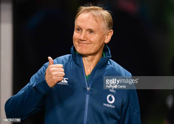 Dublin Ireland 17 November 2018 Ireland head coach Joe Schmidt prior to the Guinness Series International match between Ireland and New Zealand at...