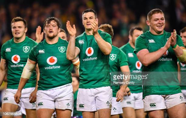 Dublin Ireland 17 November 2018 Jonathan Sexton of Ireland following his side's victory in the Guinness Series International match between Ireland...