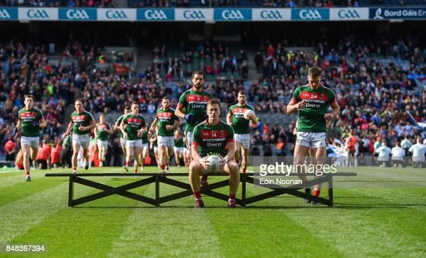 Dublin Ireland 17 September 2017 Cillian O'Connor of Mayo waits for the team photography to be taken prior to the GAA Football AllIreland Senior...