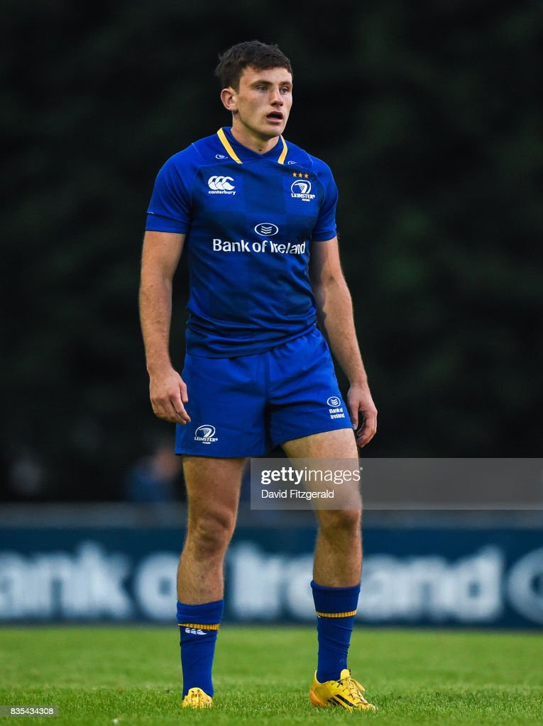 Dublin , Ireland - 18 August 2017; Hugo Keenan of Leinster during the Bank of Ireland Pre-season Friendly match between Leinster and Gloucester at St Mary's RFC in Dublin.
