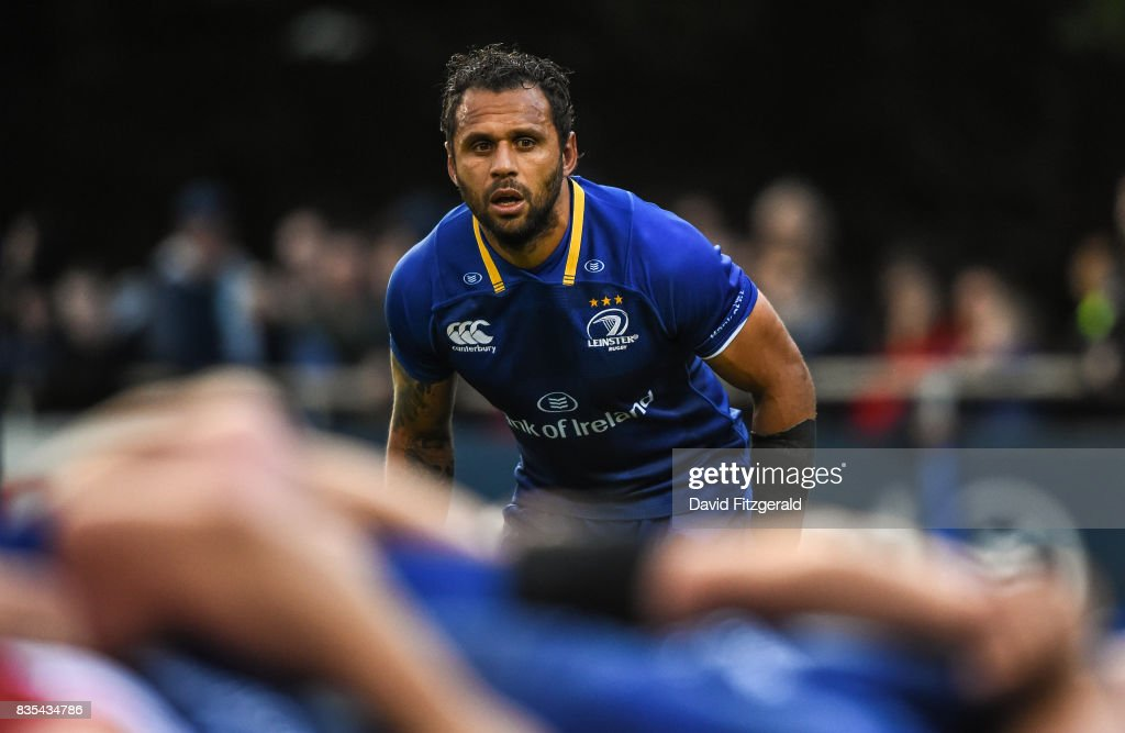 Dublin , Ireland - 18 August 2017; Isa Nacewa of Leinster during the Bank of Ireland Pre-season Friendly match between Leinster and Gloucester at St Mary's RFC in Dublin.
