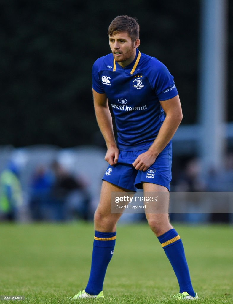 Dublin , Ireland - 18 August 2017; Ross Byrne of Leinster during the Bank of Ireland Pre-season Friendly match between Leinster and Gloucester at St Mary's RFC in Dublin.