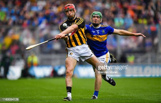 Dublin Ireland 18 August 2019 Cillian Buckley of Kilkenny in action against Noel McGrath of Tipperary during the GAA Hurling AllIreland Senior...