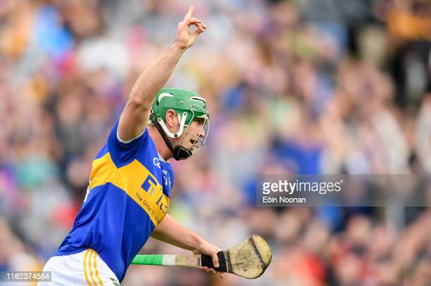 Dublin , Ireland - 18 August 2019; John ODwyer of Tipperary celebrates after scoring his side's third goal during the GAA Hurling All-Ireland Senior...