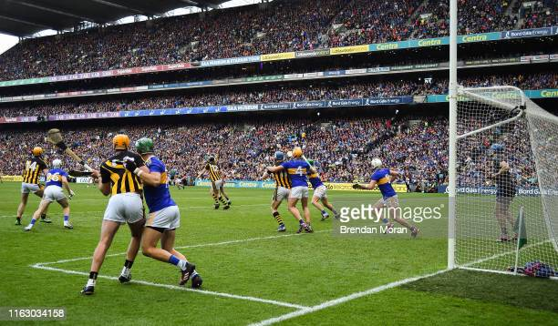 Dublin Ireland 18 August 2019 Players jostle as a free is about to be taken during the GAA Hurling AllIreland Senior Championship Final match between...