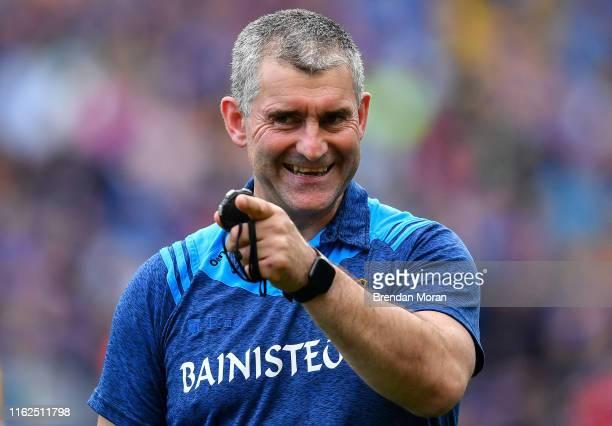 Dublin , Ireland - 18 August 2019; Tipperary manager Liam Sheedy celebrates after the GAA Hurling All-Ireland Senior Championship Final match between...