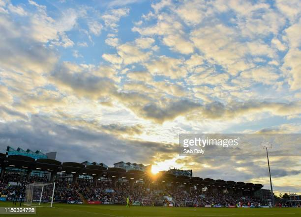 Dublin Ireland 18 July 2019 A general view of the stadium during the UEFA Europa League First Qualifying Round 2nd Leg match between Shamrock Rovers...