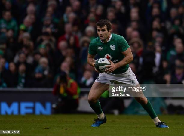 Dublin Ireland 18 March 2017 Jared Payne of Ireland during the RBS Six Nations Rugby Championship match between Ireland and England at the Aviva...