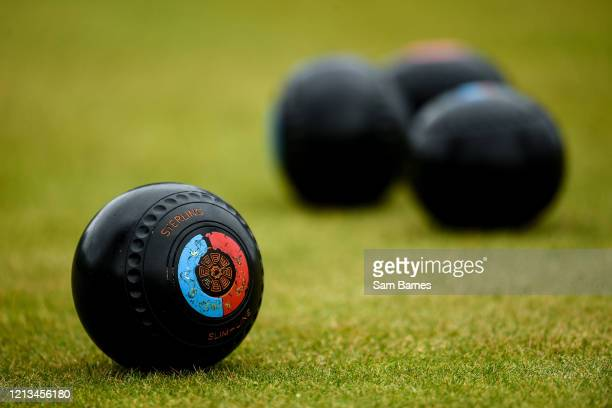 Dublin , Ireland - 18 May 2020; A general view of Lawn Bowls at Clontarf Bowling Club in Dublin as it resumes having previously suspended all...