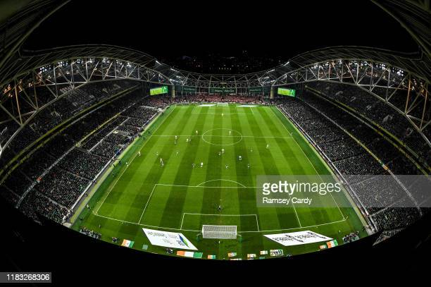 Dublin Ireland 18 November 2019 A general view during the UEFA EURO2020 Qualifier match between Republic of Ireland and Denmark at the Aviva Stadium...