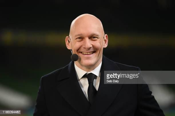 Dublin , Ireland - 18 November 2019; Danish TV pundit Thomas Gravesen prior to the UEFA EURO2020 Qualifier match between Republic of Ireland and...
