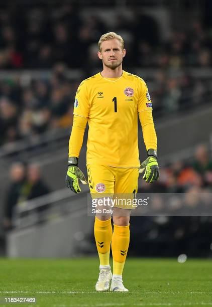 Dublin Ireland 18 November 2019 Kasper Schmeichel of Denmark during the UEFA EURO2020 Qualifier match between Republic of Ireland and Denmark at the...