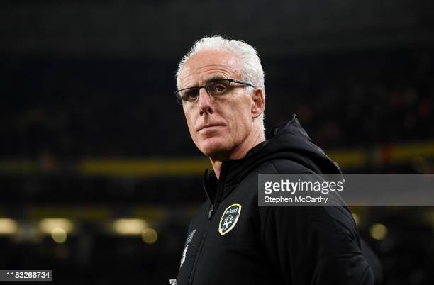 Dublin Ireland 18 November 2019 Republic of Ireland manager Mick McCarthy before the UEFA EURO2020 Qualifier match between Republic of Ireland and...