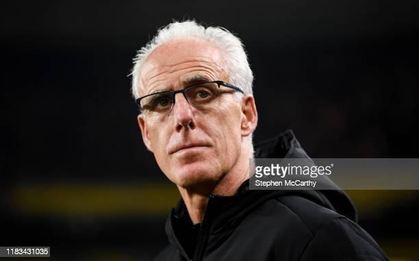 Dublin Ireland 18 November 2019 Republic of Ireland manager Mick McCarthy during the UEFA EURO2020 Qualifier match between Republic of Ireland and...