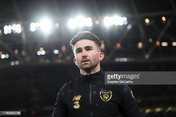 Dublin Ireland 18 November 2019 Sean Maguire of Republic of Ireland prior to the UEFA EURO2020 Qualifier match between Republic of Ireland and...