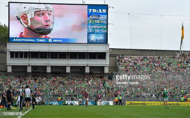 Dublin Ireland 19 August 2018 Joe Canning of Galway stands over a last minute free during the GAA Hurling AllIreland Senior Championship Final match...
