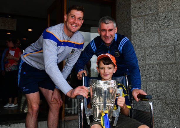 IRL: Tipperary All-Ireland hurling champions visit Children's Health Ireland at Crumlin