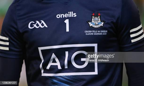 Dublin , Ireland - 19 December 2020; A detailed view of the jersey of Dublin captain Stephen Cluxton after the GAA Football All-Ireland Senior...