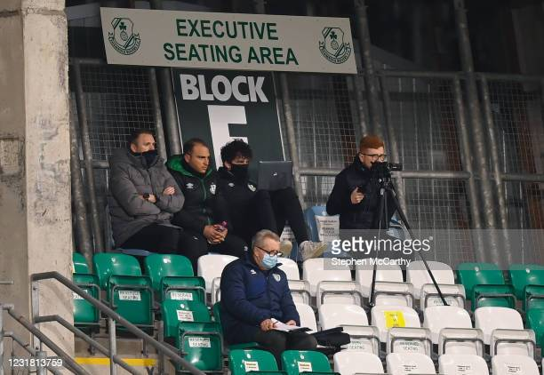 Dublin , Ireland - 19 March 2021; Robbie Keane, left, during the SSE Airtricity League Premier Division match between Shamrock Rovers and St...