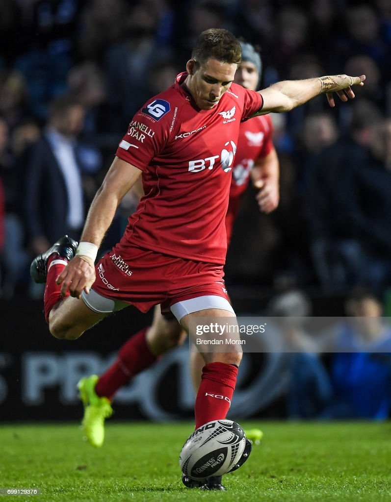 Dublin , Ireland - 19 May 2017; Liam Williams of Scarlets during the Guinness PRO12 Semi-Final match between Leinster and Scarlets at the RDS Arena in Dublin.