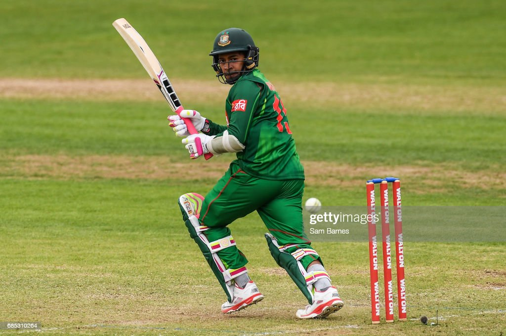 Dublin , Ireland - 19 May 2017; Mushfizur Rahim of Bangladesh during the One Day International match between Ireland and Bangladesh at Malahide Cricket Club in Dublin.