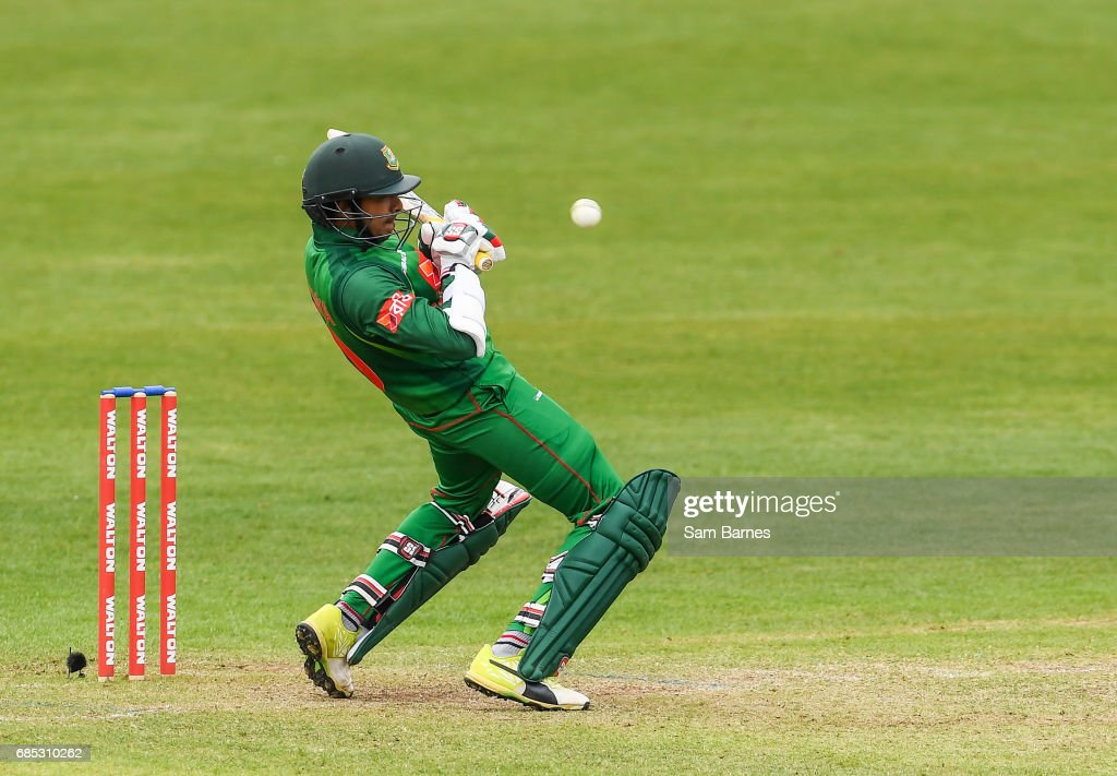 Dublin , Ireland - 19 May 2017; Soumya Sarkar of Bangladesh during the One Day International match between Ireland and Bangladesh at Malahide Cricket Club in Dublin.
