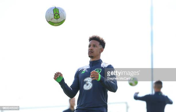 Dublin Ireland 19 May 2018 Callum Robinson during Republic of Ireland squad training at the FAI National Training Centre in Abbotstown Dublin