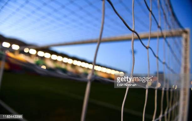 Dublin , Ireland - 19 November 2019; A detailed view of the goal netting at Tallaght Stadium prior to the UEFA European U21 Championship Qualifier...