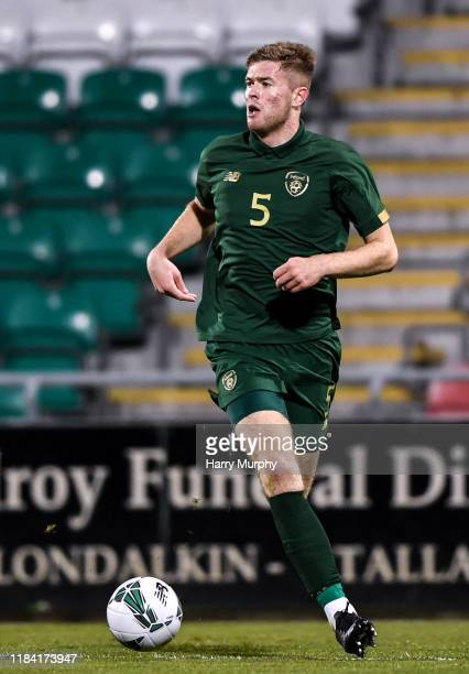 Dublin Ireland 19 November 2019 Nathan Collins of Republic of Ireland during the UEFA European U21 Championship Qualifier match between Republic of...