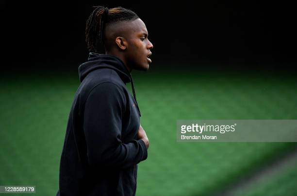 Dublin Ireland 19 September 2020 Maro Itoje of Saracens prior to the Heineken Champions Cup QuarterFinal match between Leinster and Saracens at Aviva...