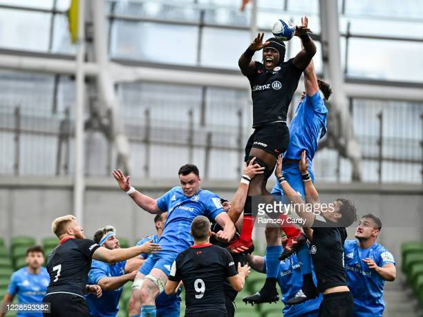 Dublin Ireland 19 September 2020 Maro Itoje of Saracens wins possession in the lineout during the Heineken Champions Cup QuarterFinal match between...
