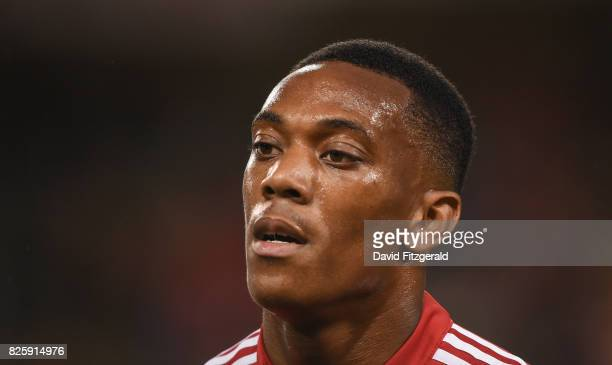 Dublin Ireland 2 August 2017 Anthony Martial of Manchester United following the International Champions Cup match between Manchester United and...