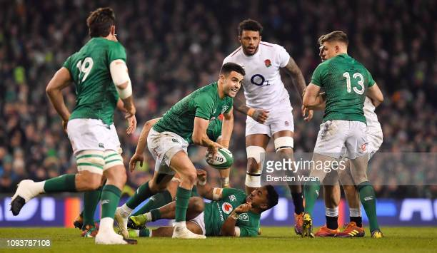 Dublin Ireland 2 February 2019 Conor Murray of Ireland during the Guinness Six Nations Rugby Championship match between Ireland and England in the...