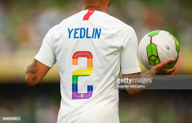 Dublin Ireland 2 June 2018 A detailed view of the jersey worn by DeAndre Yedlin of United States during the International Friendly match between...
