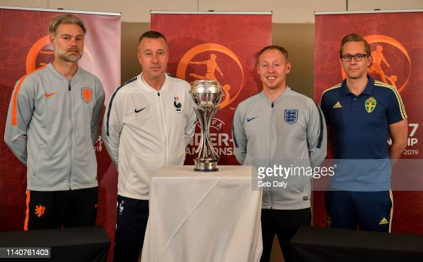 Dublin Ireland 2 May 2019 Head coaches from left Peter Van Der Veen of Netherlands JeanClaude Giuntini of France Steven Cooper of England and...