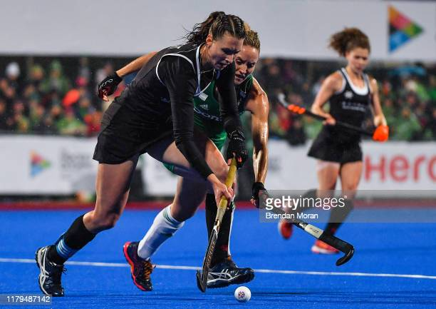 Dublin Ireland 2 November 2019 Kate Wright of Canada in action against Nicola Daly of Ireland during the FIH Women's Olympic Qualifier match between...