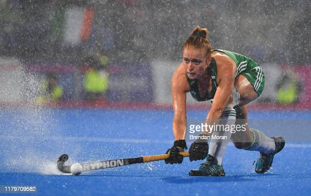 Dublin Ireland 2 November 2019 Zoe Wilson of Ireland during the FIH Women's Olympic Qualifier match between Ireland and Canada at Energia Park in...