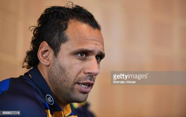 Dublin Ireland 2 October 2017 Leinster captain Isa Nacewa in attendance at the European Rugby Champions Cup and Challenge Cup 2017/18 season launch...