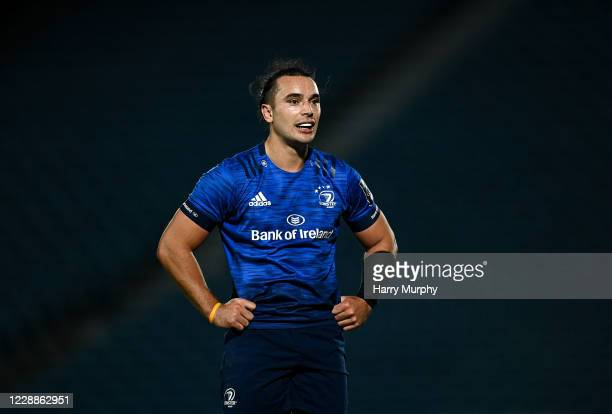 Dublin , Ireland - 2 October 2020; James Lowe of Leinster during the Guinness PRO14 match between Leinster and Dragons at the RDS Arena in Dublin.