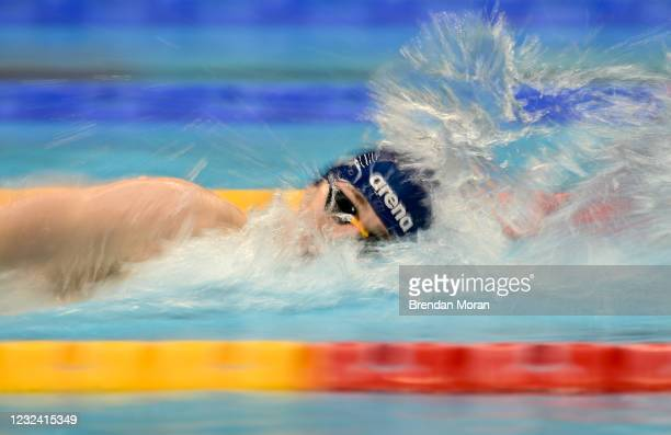 Dublin , Ireland - 20 April 2021; Michael Hewitt of Ards SC competes in the 200 metre freestyle on day one of the Irish National Swimming Team Trials...