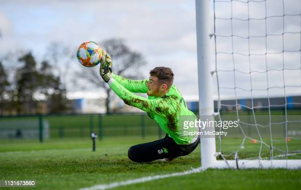 Dublin Ireland 20 March 2019 Mark Travers during a Republic of Ireland training session at the FAI National Training Centre in Abbotstown Dublin