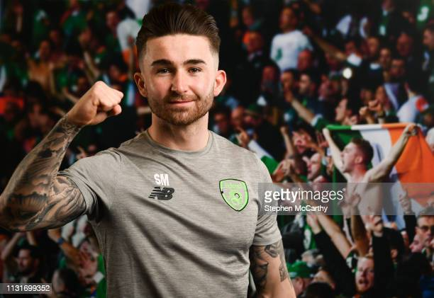 Dublin Ireland 20 March 2019 Sean Maguire of Republic of Ireland poses for a portrait during a squad portrait session at their team hotel in Dublin