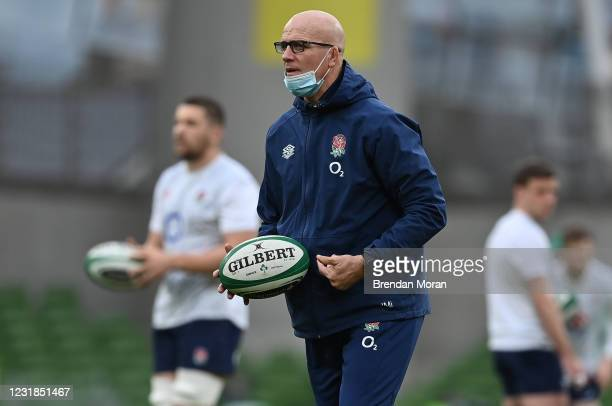 Dublin , Ireland - 20 March 2021; England defence coach John Mitchell prior to the Guinness Six Nations Rugby Championship match between Ireland and...
