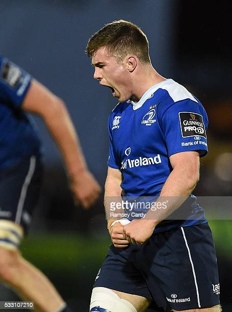 Dublin , Ireland - 20 May 2016; Luke McGrath of Leinster celebrates at the final whistle of the Guinness PRO12 Play-off match between Leinster and...