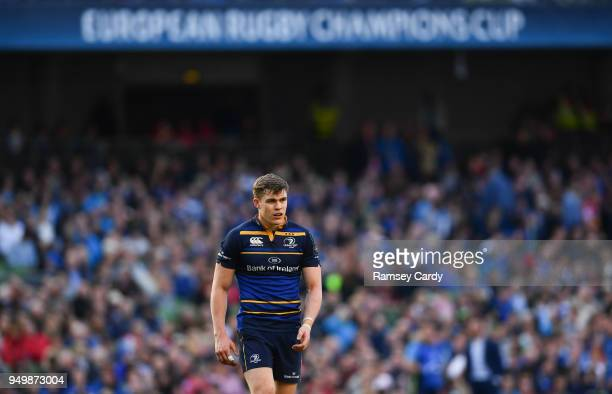 Dublin Ireland 21 April 2018 Garry Ringrose of Leinster during the European Rugby Champions Cup SemiFinal match between Leinster Rugby and Scarlets...