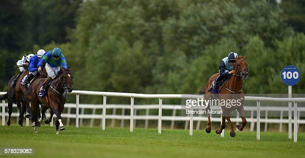Dublin Ireland 21 July 2016 Windsor Beach with Denis Linehan up on their way to winning the Morocco SOREC Apprentice Handicap during the Bulmers...