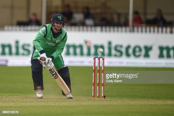 Dublin Ireland 21 May 2017 Ireland captain William Porterfield during the One Day International match between Ireland and New Zealand at Malahide...