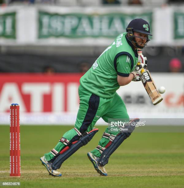 Dublin Ireland 21 May 2017 Paul Stirling of Ireland during the One Day International match between Ireland and New Zealand at Malahide Cricket Club...