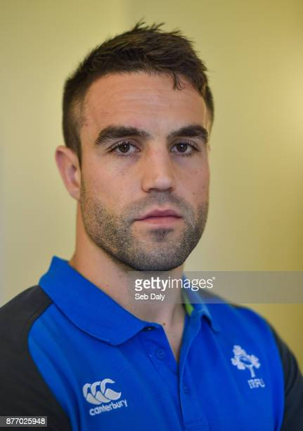 Dublin Ireland 21 November 2017 Conor Murray poses for a portrait following an Ireland rugby press conference at Carton House in Maynooth Kildare